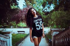Summer Mood (LiveRasol) Tags: portrait photography freelancephotography paris season parc green beautifulwoman streetstyle canon eos5dmkii ef2470mm28 dark moodatmosphere liverasoloarison liverasol