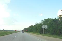 Stringtown, OK- US 69 & OK 43 (jerseyman65) Tags: oklahoma freeways travel ushighways usroutes okroutes shields signs guidesigns expressways highways