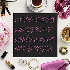 Pink Font (northseastudio) Tags: clipart etsy glitter letters pink