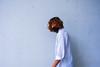 1 (txxmxxn) Tags: me girl self portrait selfportrait brown hair haircolor color face rotate wall tile white shirt secretly blackmask walk stand yellow blus
