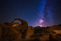 Mobius Arch (Wayne Pinkston) Tags: longexposure nightphotography lightpainting night canon stars arch galaxy nightsky milkyway alabamahills stonearch nikon1224mm mobiusarch cnon6d
