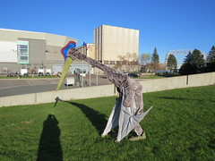 Walking down the hill outside the Great Lakes Aquarium (Pangaea 88) Tags: costume pterodactyl pterosaur quetzalcoatlus azhdarchid