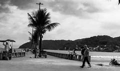 life goes on the beach (Diego Reghini) Tags: life city cidade brazil sky people blackandwhite bw man black art praia beach beautiful branco brasil clouds contrast canon amazing pb preto sp vida nuvens vicente so sx510