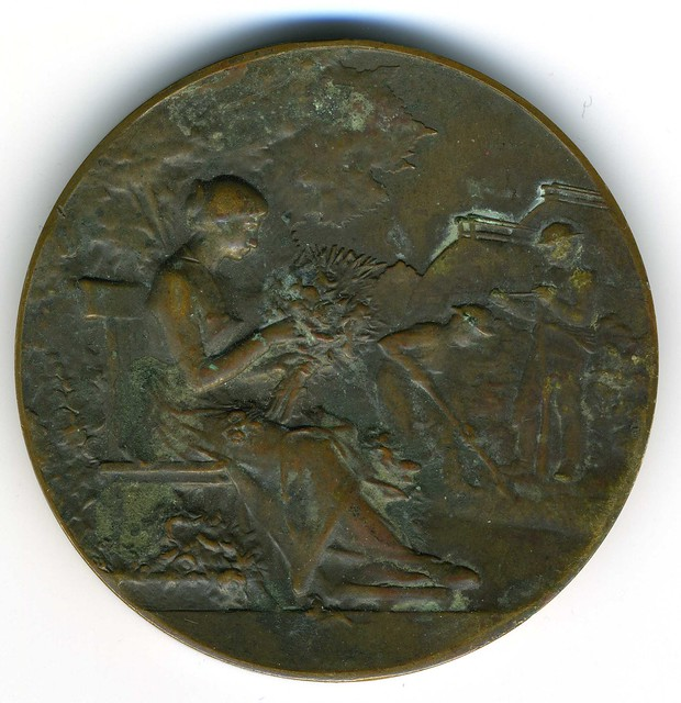 Nantes, médaille de la Société des Horticulteurs, fin du XIXe siècle, avers (photo : Gildas Salaün)