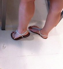 IMG_0028 (heellover91) Tags: red woman sexy feet girl leather foot shoes toes legs sandals thong flip flops strappy