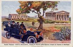 1906 Isotta Fraschini Double Phaeton (aldenjewell) Tags: temple ruins basilica postcard double 1906 neptune pesto salerno phaeton isotta fraschini