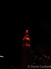 February 7, 2015 - The May D & F Tower Lit Up Red for Heart Health Awareness Month  (David Canfield)