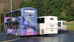 First's Peebles Outstation (busmanscotland) Tags: eclipse volvo pointer profile first wright bluebird dennis dart gemini midland hdj plaxton 20301 b7r 40911 b9tl sn57 37134 p632cgm wx54zhn