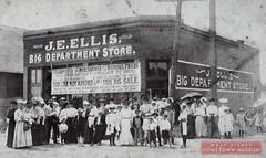 Main Street USA-Kansas Avenue (Dirt Street), Marceline, MO  E Ellis - Big Department Store - Marceline, MO  Built 1880's