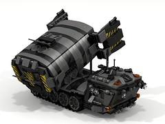 """Archer"" Medium Range Mobile Missile Launcher (-Lee Barton-) Tags: lego military archer ldd missilelauncher internalview legotank"