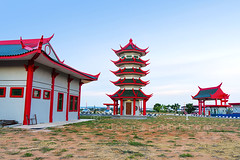 traditional chinese building (sydeen) Tags: china old travel blue roof light red sky house building heritage tourism lamp beautiful architecture asian temple pagoda ancient asia shanghai background traditional famous chinese beijing culture landmark tourist structure historical