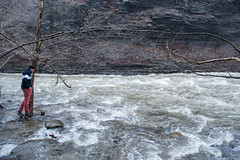 flooded (ais_t) Tags: christmas new york family winter water stone grey pants gray salmon fast rapids flowing geology ithaca
