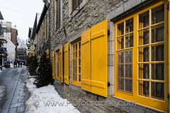 Beatiful winter day in the Petit-Champlain (po.fortin) Tags: christmas street winter snow canada tree heritage hiver tourist historic qubec champlain neige quebeccity rue petit petitchamplain