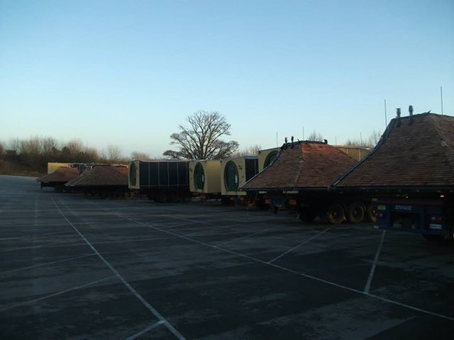 02/01/2015 - The overflow car park is now full of lodges waiting to be installed.
