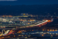 south airport feeds (pbo31) Tags: california city longexposure winter urban motion color night dark lights airport nikon highway view traffic sfo over january 101 bayarea vista sanbruno d800 southsanfrancisco traffictrails sanmateocounty sanfranciscointernational 2015 lightstream signhillpark
