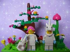 Lego mini figures - Series 13 - Unicorn girl (redmermaidwerewolf) Tags: pink building tree brick girl hair toy construction lego mini pony fantasy figure series 13 unicorn mega minifigure bloks fluttershy