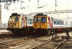 BR Class 312 312796 & 937990 (308151) - East Ham, London (dwb transport photos) Tags: london emu eastham nse britishrailways networksoutheast sanditeunit 312796 937990 308151