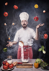 Charlie (Lala Photography at JoLi Studios Colchester) Tags: portrait food flower cooking water vegetables hat canon beard pepper photography board egg knife cook spoon lettuce chef vegetarian chopping beardo pakchoi jolistudios