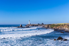 Santa Cruz Trip - Jan 2015 - 98 (www.bazpics.com) Tags: ocean california santa ca morning usa sun lighthouse america sunrise point dawn coast shark early unitedstates pacific cove pigeon cruz surfers coastline fin pescadero barryoneilphotography