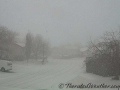 February 21, 2015 - Near blizzard conditions in Thornton in the afternoon. (ThorntonWeather.com)