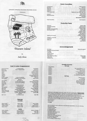 2003 Treasure Island 00 Programme