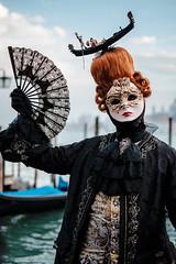 A Last Sample of Venice (Andrew Stawarz) Tags: venice italy woman water costume gondola fujifilm adobelightroom xt1 fujinonxf35mmf14r