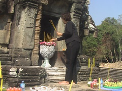 Offering Incense at Neak Pean