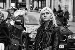 beautiful blonde girl IMG_1722-Edit (roger_thelwell) Tags: life street city uk winter portrait england people urban bw white black streets cold london lamp girl monochrome beautiful westminster beauty hat rain leather mobile umbrella hair bag walking real photography mono chat shiny phone traffic post natural photos britain circus cigarette candid cab taxi great over sac hats cell photographic smoking lamppost photographs oxford blonde conversation shiney talking shoulder handbag stud speak speaking studs commuters scak