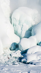 Frozen Niagara Falls (Jennifer Stuber) Tags: blue winter white canada ice nature water america river niagarafalls falls horseshoefalls americanfalls nikond750
