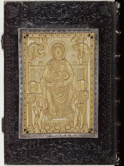 Carolingian ivory - Virgin Mary enthroned [9th cent] (petrus.agricola) Tags: de mary ivory charles virgin le ou bnf ms lat 323 chauve ivoire vangile enthroned noailles vangiles
