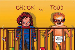 Chucky Vs Todd (davidnornberg) Tags: art movie effects blood dolls puppet special killer hollywood horror slashers