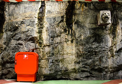Day 20/365 (JohannesLundberg) Tags: red subway europe metro sweden stockholm location granite geology subwaystation mascaron metrostation kungsträdgården project365 stockholmslän 365photos 2structuresandarchitectures