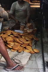 Baker's Leg (Mayank Austen Soofi) Tags: food baker delhi leg cook bakery slipper walla chappal