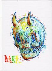 Craneo Normal (thefrogpower) Tags: argentina skull graffiti photo drawing conceptual rana dibujo calavera