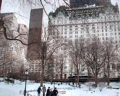 The Plaza Hotel #manhattan #newyork #newyorkcity #centralpark #snow #hdr (lelobnu) Tags: newyorkcity snow newyork centralpark manhattan hdr