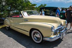 1948 Buick Roadmaster Convertible (Rivitography) Tags: old 1948 me car yellow canon vintage rebel buick automobile gm antique maine convertible wells adobe t3 expensive luxury rare cabriolet lightroom roadmaster 2014 wellsbeach 21088 rivitography