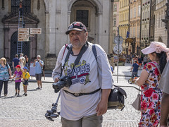 _7166484 Colleague Trodding Along (idunavision) Tags: street camera leica fotograf photographer prague prag olympus charlesbridge kamera stativ karlsbrcke tripo