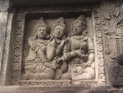 Titilating Bas Relief in Prambanan