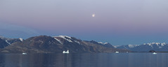 Greenland (richard.mcmanus.) Tags: greenland scoresbysound arctic landscape dawn mcmanus fjord water mountains moon
