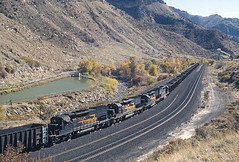 5 Photo Series of Coal in Price Canyon, Part 1 (railfan 44) Tags: southernpacific denverriograndewestern drgw