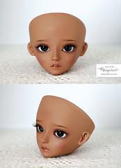 Face up for Bluefairy Robin (Mikiyochii) Tags: robin doll bjd bluefairy balljointeddoll repaint faceup