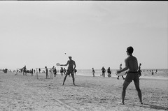 frescobol (putjka) Tags: kiev4 analog film filmphotography kodak tmax100 bw retro frescobol beach sun summer jurmala fun