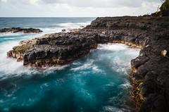 On the Coast (HikerDude24) Tags: hawaii kauai nikon d5100 water ocean queensbath seascape landscape sunset princeville longexposure polarizer travel