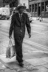 Sunday Best (Jomak1) Tags: jomak1 london street senior putney hat tie photography wandsworth july male 2016 glasses shopping pedestrian welldressed bag suit caribbean
