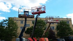 (prairiestateeffects) Tags: chicago lift jlg chicagoriver npu boomlift