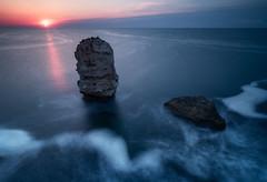 Elements (emil.rashkovski) Tags: ocean morning blue light sun seascape bird water rock sunrise