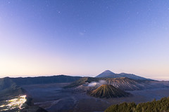 BROMO IN THE BLUE (ARTCHAWIN PREMPRASONG) Tags: sky indonesia stars landscape volcano java twilight asia malang bromo mtbromo