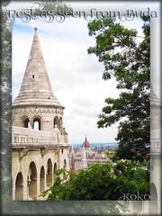 Pest, as seen from Buda (Koko Nut, it's all about the frame) Tags: city cruise wonder europe view budapest vista koko rivercruise 2016 kokonut