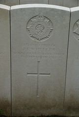 P.K. Wheeler, Army Service Corps, 1914, War Grave, Poperinghe (PaulHP) Tags: cwgc ww1 world war 1 first great belgium grave marker headstone military cemetery pf percy frederick wheeler driver service numbe t24304 6th november 1914 asc army corps hq coy company 2nd div division train poperinghe old