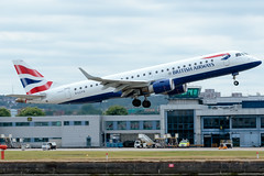 BA CityFlyer - Embraer ERJ-190SR - G-LCYV  London City Airport (paulstevenchalmers) Tags: ba cityflyer embraer london londoncity lcy airport
